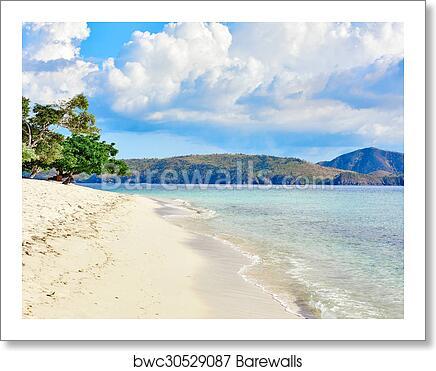 Coron White Sand Beach Palawan Philippines Art Print Poster