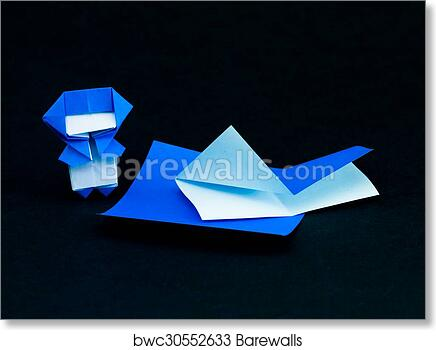 Art Print Of Japanese Origami Toys Folding Instructions How To Play