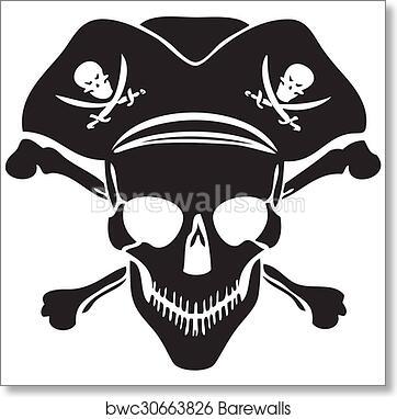 Art Print Of Pirate Symbol Jolly Roger Skull Barewalls Posters