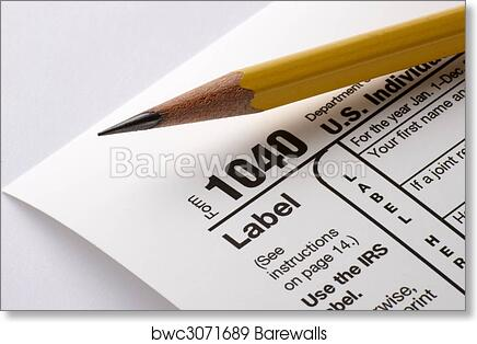 Art Print Of Tax Form 1040 Barewalls Posters Prints Bwc3071689