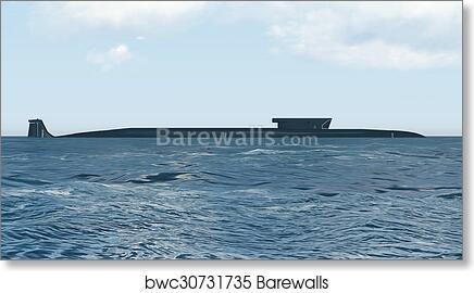 Art print POSTER CANVAS Nuclear Submarine