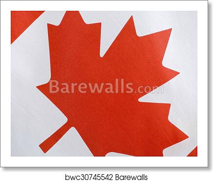 Happy Canada Day Canadian Flag Art Print Poster