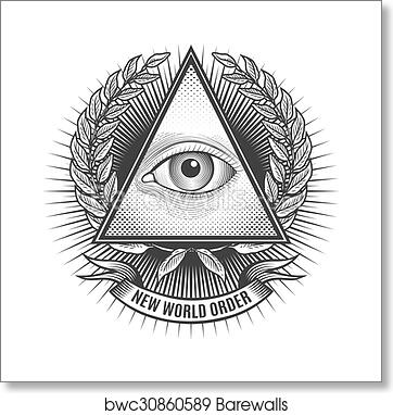 Art Print Of All Seeing Eye In Delta Triangle