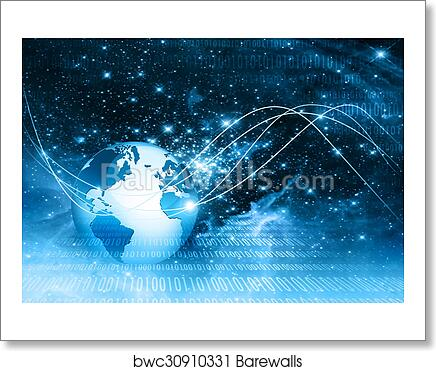 Best Internet Concept Of Global Business Globe Glowing Lines On Technological Background Electronics Wi Fi Rays Symbols Internet Television Mobile And Satellite Communications Art Print Barewalls Posters Prints Bwc30910331