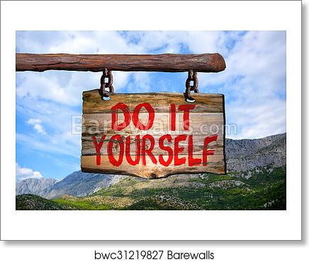 Art print of do it yourself sign barewalls posters prints art print of do it yourself sign solutioingenieria Image collections