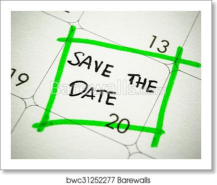 art print of save the date
