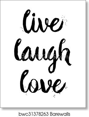Live Laugh Love Motivational Inspirational Quote Poster Print Wall Art