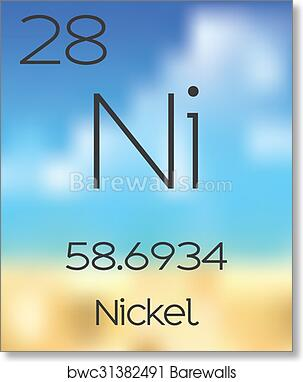 Art print of periodic table of the elements nickel barewalls art print of periodic table of the elements nickel urtaz Image collections