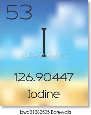 Art print of periodic table of the elements iodine barewalls art print of periodic table of the elements iodine urtaz Choice Image