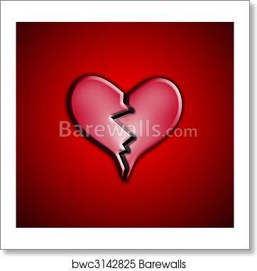 Art Print Of Heart Break Barewalls Posters Prints Bwc3142825