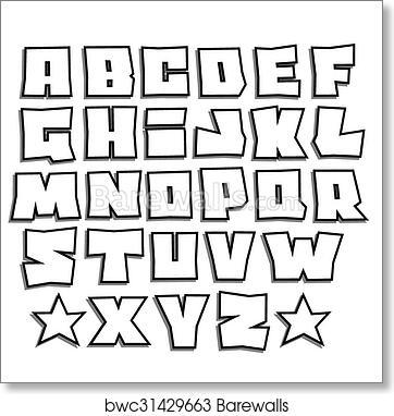 Art Print Of Readable Graffiti Fonts Alphabet