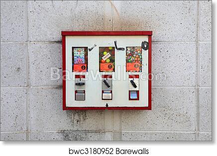 Art Print Of Gumball Vending Machine Barewalls Posters Prints