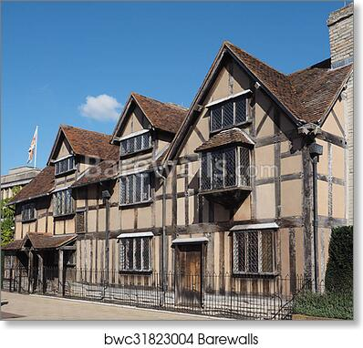 Art Print Of Shakespeare Birthplace In Stratford Upon Avon