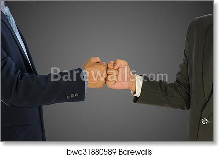 Art print of two businessmen greeting with a fist bump isolated art print of two businessmen greeting with a fist bump isolated m4hsunfo