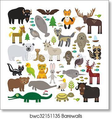 7f7e648e73 Bison bat manatee fox elk horse wolf partridge fur seal Polar bear Pit  viper snake Mountain goat raccoon Eagle skunk parakeet Jaguar hare narwhal  elk ...