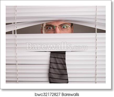 Art Print Of Spying