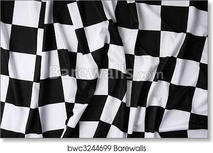 Art Print Of Real Waving Checkered Flag Barewalls Posters Prints Shower Curtain