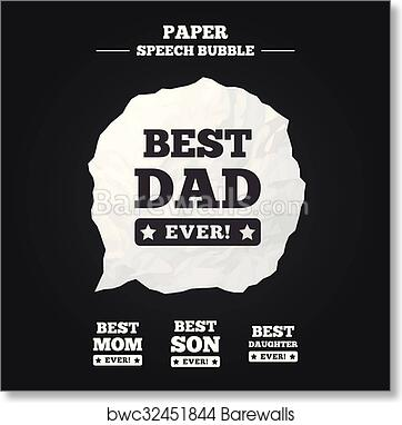 Art Print Of Best Mom And Dad Son Daughter Icons Barewalls