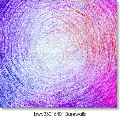 Abstract Color Pencil Scribbles Background Paper Texture Art Print Poster