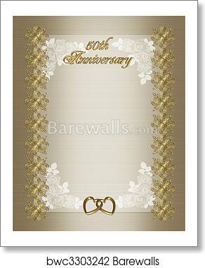 art print of 50th anniversary invitation barewalls posters