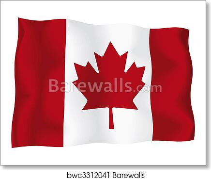 Art print of canada canadian flag