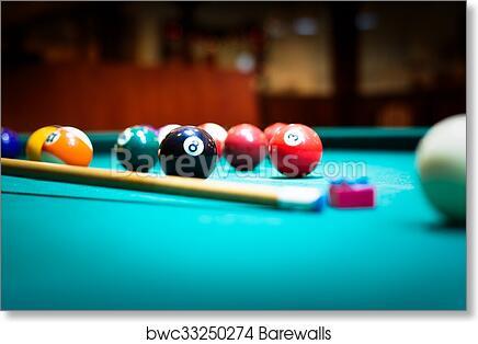 Billiard Balls In A Pool Table, Art Print