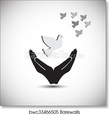 Art Print Of Concept Of Peace And Freedom Also Represents