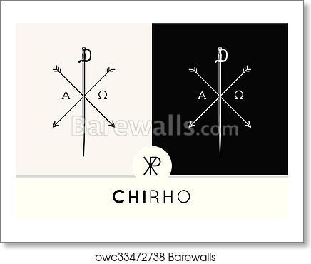 Art Print Of Chi Rho Symbol Icon Sword Arrows Barewalls Posters