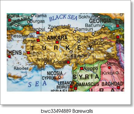 Turkey Country Map on