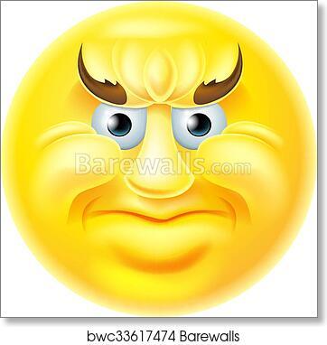 art print of angry emoji emoticon man barewalls posters prints