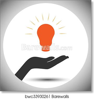 Concept of save electricity power art print poster