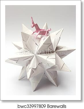 Origami Unicorn Art Print by staskhabarov | Society6 | 382x292