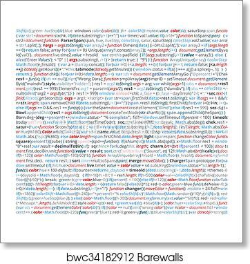 Art Print Of Abstract Program Code