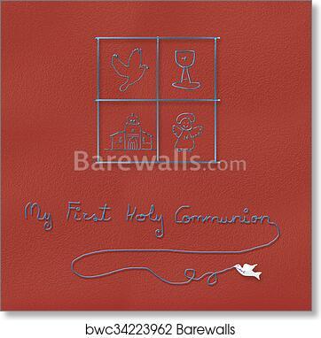 Art Print Of Children Religious Symbols For Communion Barewalls