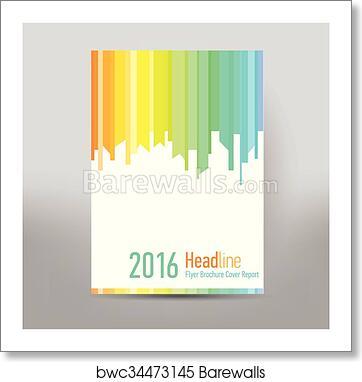 art print of modern cover annual report brochure business brochure