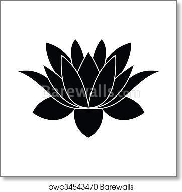 Art print of lotus flower icon simple style barewalls posters art print of lotus flower icon simple style mightylinksfo