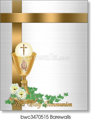 Art Print of Holy Communion Invitation Background Barewalls