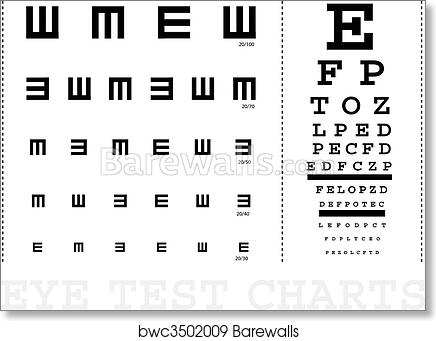 Art Print Of Vector Snellen Eye Test Charts For Children And Adults