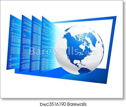 Art print of world wide web html code background barewalls posters art print of world wide web html code background gumiabroncs Images