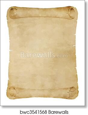 art print of old parchment scroll barewalls posters prints