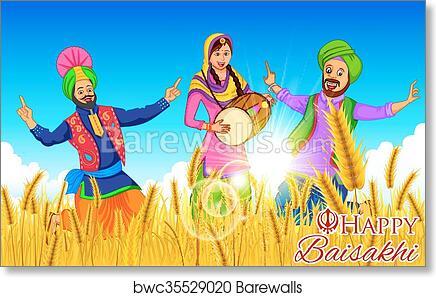 Art Print of Happy Baisakhi background | Barewalls Posters & Prints ...