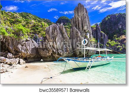 Amazing Philippines Islands El Nido Palawan Art Print Poster