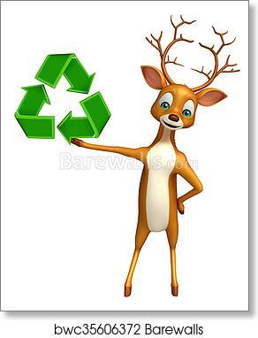 Deer Art Picture Poster Photo Print 3DER