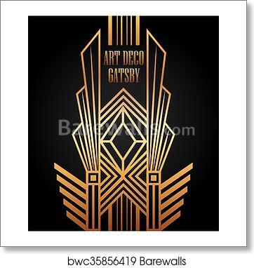 Art Deco Element Gatsby Design Art Print Poster
