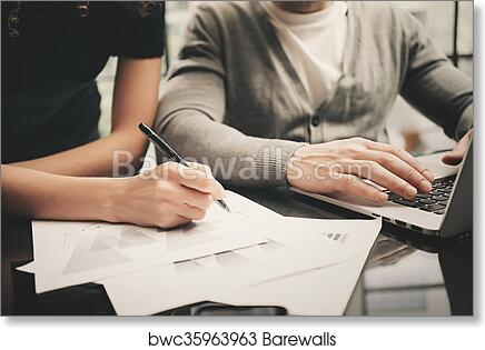 Business Situation Signs Contracts Closeup Photo Finance Manager