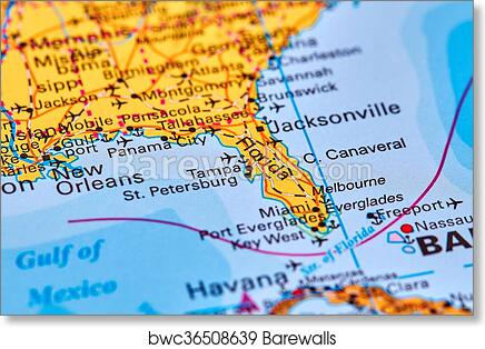 photograph about Printable Map of Havana named Florida upon the Map artwork print poster