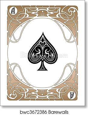 spade card art  Spade Ace Card art print poster