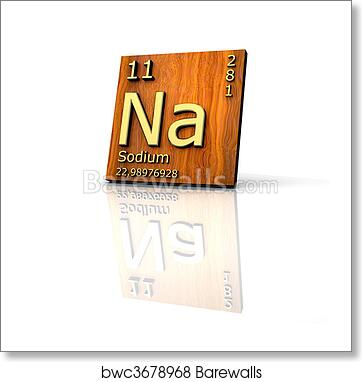Art print of sodium form periodic table of elements barewalls art print of sodium form periodic table of elements urtaz Choice Image
