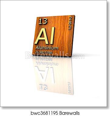 Art print of aluminum form periodic table of elements barewalls art print of aluminum form periodic table of elements urtaz Choice Image