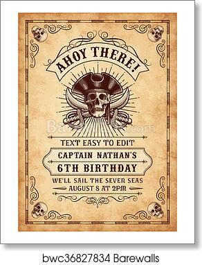 art print of death pirate invite 3 barewalls posters prints
